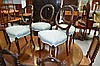 Four antique balloon back chairs (4)