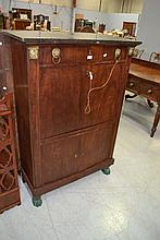 Antique French Empire marble topped secretaire a