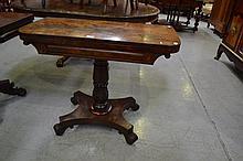 Antique mahogany card table, mid 19th century