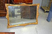 Rectangular gilt framed mirror