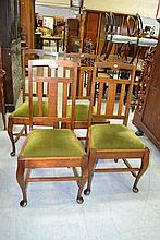 Set of four Tasmanian oak dining chairs (4)