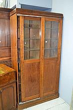 Vintage office pigeon hole two door cabinet