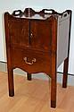 Antique Georgian tray top nightstand, standing