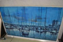 Large contemporary Marins painting, approx 122cm x 204cm