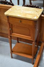Antique French Louis XVI nightstand, approx 86cm H