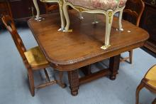 Antique French Brittany table, approx 74cm H x 127cm W x 114cm D