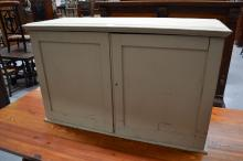 Small painted cupboard, approx 72cm H x 114cm W