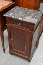 Antique French nightstand, approx 79cm H
