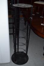 Metal modern plate stand, approx 131cm H x 35cm dia