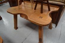 Pine jewellers table, approx 135cm x 90cm x 83cm