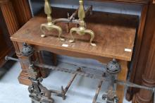 Small French table, approx 72cm H x 88cm L x 55cm W