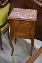Antique French nightstand, approx 82cm H
