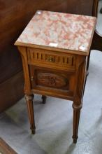 Antique French nightstand, approx 78cm H