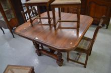 Antique French Henri II table, approx 74cm H x 125cm L x 118cm W