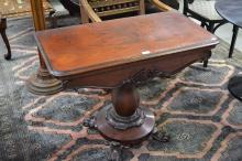 Antique William IV rosewood fold over card table approx, 74cm H