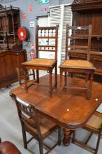 Set of six Antique French Henri II walnut caned chairs (6)