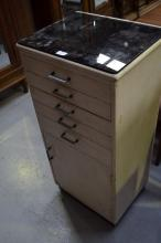 Dentist cabinet approx, 100cm H x 47cm L x 37cm W