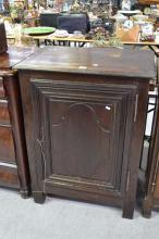 Antique French pot cupboard, has key, approx 105cm H x 77cm W x 53cm D