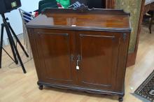 Vintage two door side cabinet, approx 100cm H x 107cm L x 45cm W