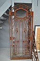Rare French Art Deco wrought iron door, 231 cm
