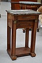Antique French Empire three drawer marble topped