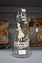 Antique Mary Gregory clear glass jug/pitcher, 28.5