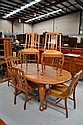 Vintage maple table dining table and set of