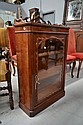 Antique mahogany display cabinet, approx 100cm H x