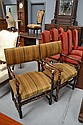 Pair of antique French Louis XV style armchairs