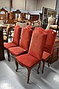 Set of six antique Louis XV high back chairs (6)