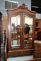 Antique French Rosewood tewo door armoire, approx