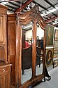 Antique French Louis XV style two door armoire