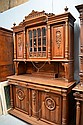 Antique French Henri II carved walnut two height