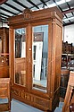 French Louis XVI two door armoire, approx 242cm H