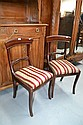 Pair of vintage cedar bar back dining chairs (2)