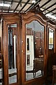 Antique French Louis XV three door armoire, approx