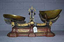 Set of Antique scales with brass dishes