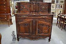 Impressive French Provencal Louis XV style buffet,