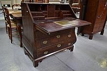 Antique Georgian period mahogany bombe shape