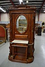 French Henri II style Hallstand, approx 223cm H