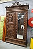 Antique French Brittany two door armoire, with all