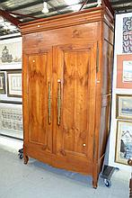 Antique late 18th century French cherry wood two