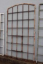 Antique French iron industrial window, approx