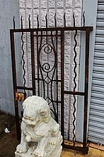 Vintage French Art Deco wrought iron gate