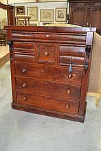 Antique Australian cedar nine drawer chest, approx