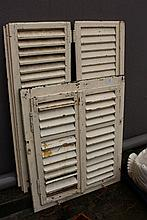 Pairs of small scale antique French shutters and