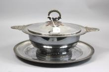 Antique Empire lidded tureen and stand (2)