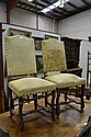 Pair of Antique French High back chairs (2)