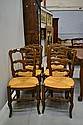 Set of French Louis XV style chairs