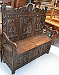 Antique French Brittany hall bench